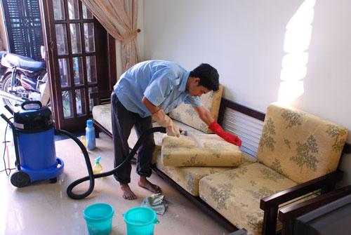 Giặt thảm, giặt ghế sofa giá rẻ tại đường 21, quận 4 TPHCM